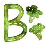 English alphabet letter b royalty free illustration