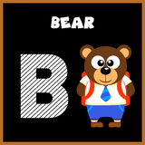The English alphabet letter B. Bear Royalty Free Stock Images