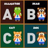 The English alphabet letter A ,B,C,D Stock Photos