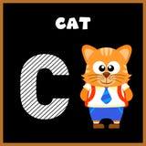 The English alphabet letter C. Cat Royalty Free Stock Image