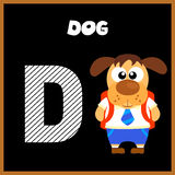 The English alphabet letter D. Dog Stock Photography