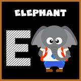 The English alphabet letter E. Elephant Royalty Free Stock Photography