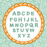 English alphabet. Letter on the floral background. Vector. Stock Photography