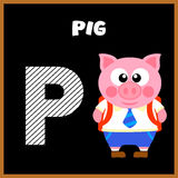 The English alphabet letter P Stock Photo
