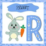 English alphabet Letter R for teaching children to read stock illustration