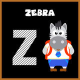 The English alphabet letter Z. Zebra Stock Photography
