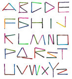 English Alphabet Letters for color pen Royalty Free Stock Image