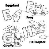 English alphabet and the letters E, F, G and H Royalty Free Stock Photo