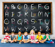 English Alphabet Letters Number Education Concept Royalty Free Stock Image