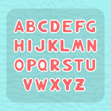 English alphabet with letters round shape in the form of child stickers Royalty Free Stock Images