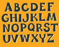 English alphabet monochrome colors Royalty Free Stock Photography