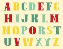The English alphabet Stock Photo