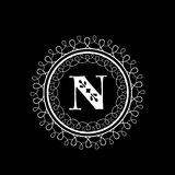 English Alphabet N for premium monogram. Royalty Free Stock Image
