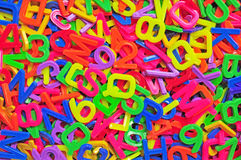 English alphabet and number background Royalty Free Stock Photos