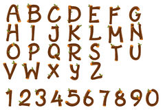 English alphabet and numbers Stock Photography