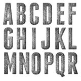 English alphabet, numbers and signs. Isolated, grungy Royalty Free Stock Photography