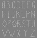 English alphabet from paperclip. A vector English alphabet from paperclip Royalty Free Stock Photography