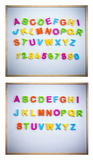 English alphabet from plastic letters Stock Image
