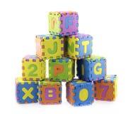 English Alphabet puzzle Royalty Free Stock Images