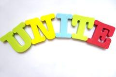 English alphabet puzzle UNITE Stock Images