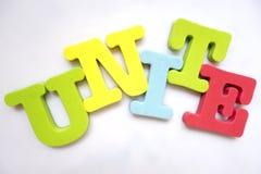 English alphabet puzzle UNITE Stock Photography
