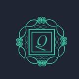 English Alphabet Q for premium monogram. Stock Images