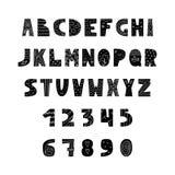 English alphabet in Scandinavian style. Vector illustration Stock Photos