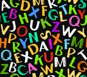 English alphabet seamless background, color, black. Stock Photo