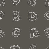 English alphabet seamless pattern Stock Images