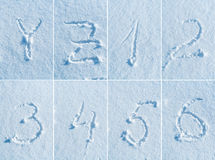 English alphabet in the snow - font set Royalty Free Stock Photography