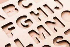 English alphabet stencil closeup Stock Photography