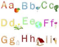 English Alphabet stickers. Royalty Free Stock Photo