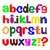 English alphabet in style pixel art Stock Images