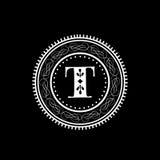 English Alphabet T for premium monogram. Royalty Free Stock Images