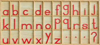 English alphabet. Royalty Free Stock Photography