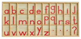 English alphabet. English alphabet on a traditional wooden bricks royalty free stock image