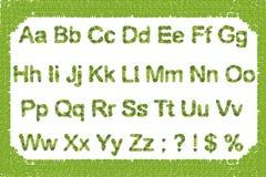 English alphabet stock image