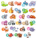 English alphabet. Vector illustration of Cartoon animal English alphabet Stock Images