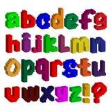 English alphabet. Vector illustration. English colorful alphabet. Vector illustration. Three-dimensional image Stock Photography