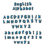 English alphabet vector Stock Images