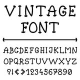 English alphabet in vintage style Stock Photo