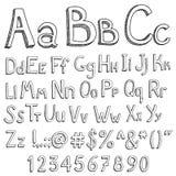 English alphabet on a white background. English alphabet for the youngest children on a white background vector illustration