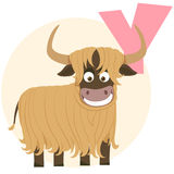 The English alphabet. Yaks Royalty Free Stock Image