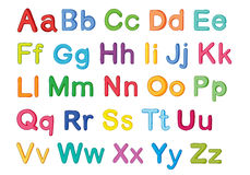 English alphabets Royalty Free Stock Images