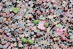English Alphabets Cubes Stock Images