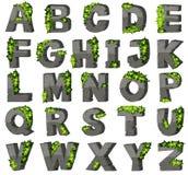 English alphabets with stone blocks Stock Images