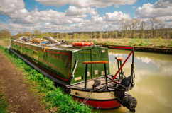 English alternative housing - Narrow floating home Royalty Free Stock Photography