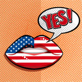 English american language concept. Royalty Free Stock Image