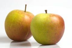 English apples on a white backgound Royalty Free Stock Photos