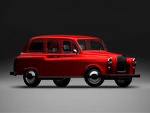 English Austin FX4. 3D render of Austin FX4 on black background Royalty Free Stock Images